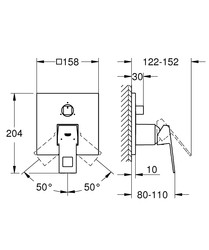 Eurocube 3 Yollu Ankastre Banyo Bataryası (24094000) - Thumbnail