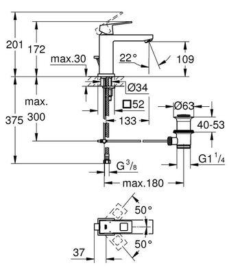 Eurocube Lavabo Bataryası M-Boyut (23445000)