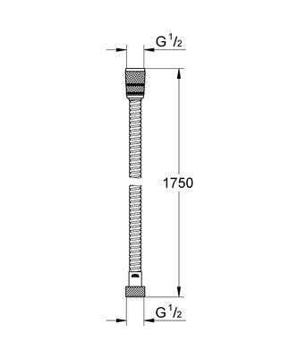 Rotaflex Metal Duş Hortumu 1750 mm (28025000)