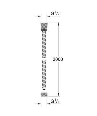 Relexaflex Metal Duş Hortum 200 mm (28145000)