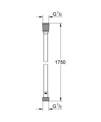 Silverflex Hortum 1750 mm Hard Graphite (28388A00)