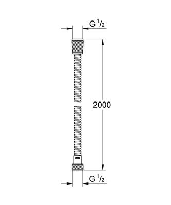 Relexaflex Metal Duş Hortumu 2000 mm (28140000)