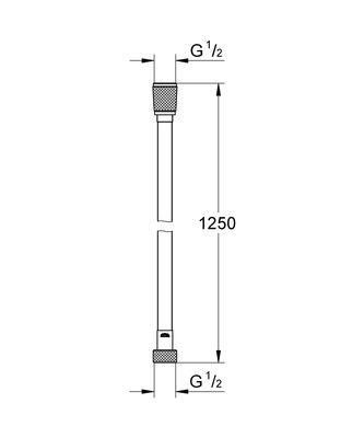 Silverflex 1250 mm Duş Hortumu Warm Sunset (28362DA0)