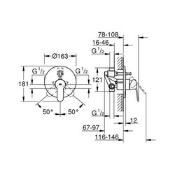 BauEdge Ankastre Banyo Bataryası (29079000) - Thumbnail