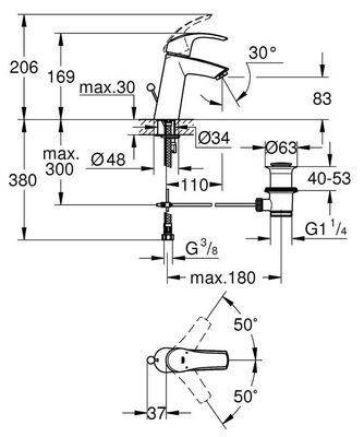 Eurosmart Lavabo Bataryası M-Boyut (23322001)