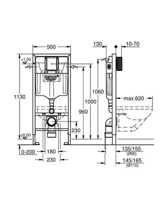 Rapid Sl Gömme Rezervuar (Tüm Duvarlar için) (38528001)