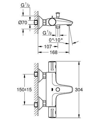 Grohtherm 800 Termostatik Banyo Bataryası (34576000)