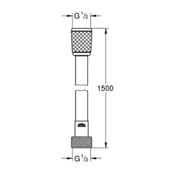 Rotaflex Duş Hortumu (28409001) - Thumbnail